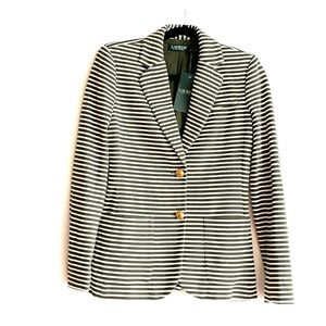 Ralph Lauren Womens Striped Blazer NWT